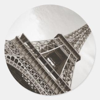 La torre Eiffel, París Pegatina Redonda