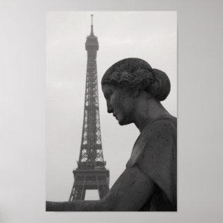 La torre Eiffel, París Póster