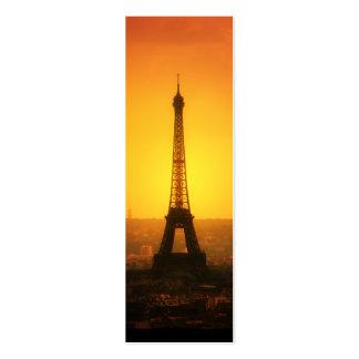La torre Eiffel, París - señal Tarjetas De Visita