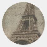 La torre Eiffel, pegatinas de París Pegatina Redonda