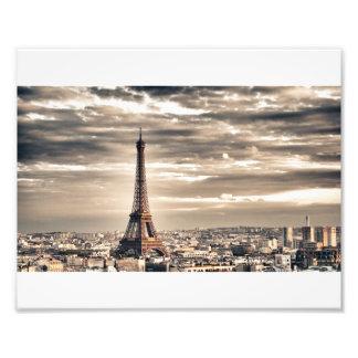 La torre Eiffel Impresion Fotografica