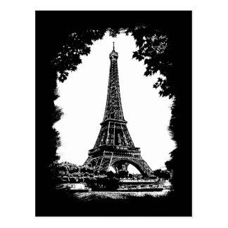 La torre Eiffel, postal de París
