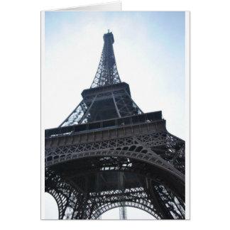 La torre Eiffel Tarjeta De Felicitación