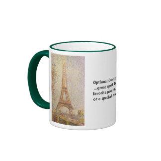 La torre Eiffel Taza De Dos Colores