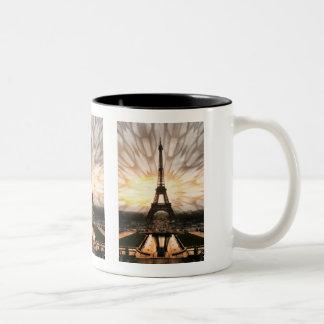 ¡La torre Eiffel! Taza De Dos Tonos