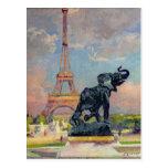 La torre Eiffel y el elefante por Fremiet Tarjetas Postales