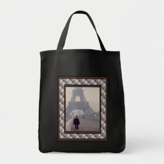 La torre Eiffel y un gendarme Bolsa Tela Para La Compra