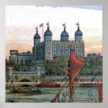 """""""La torre ejemplo del vintage de Londres"""" Impresiones"""