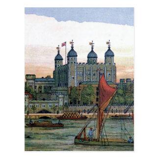 """""""La torre ejemplo del vintage de Londres"""" Tarjetas Postales"""