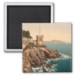 La torre en Nervi, Génova, Liguria, Italia Imanes Para Frigoríficos