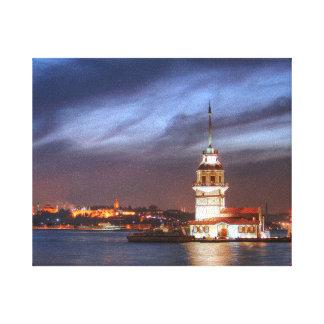 La torre Estambul de la doncella Impresión En Lona Estirada