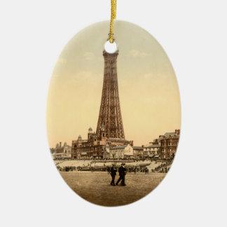 La torre, imagen del vintage de Blackpool, Adorno Ovalado De Cerámica