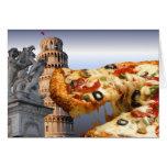 La torre inclinada de la pizza (Pisa) Tarjeta De Felicitación
