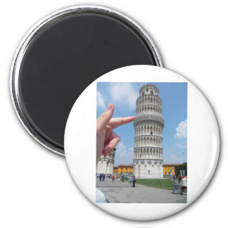 la torre inclinada de Pisa Imán Redondo 5 Cm
