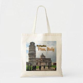 La torre inclinada de Pisa, Italia Bolsas Lienzo