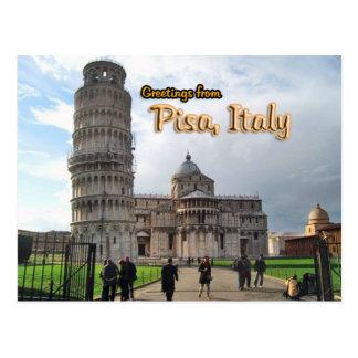 La torre inclinada de Pisa, Italia Postal