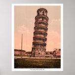 La torre inclinada de Pisa, Italia Posters