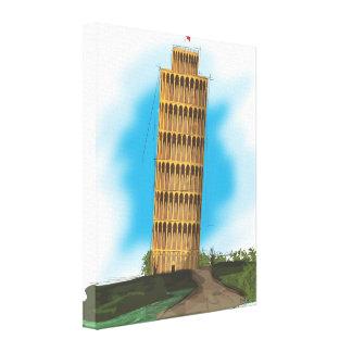 La torre inclinada de Pisa Impresión En Lienzo Estirada