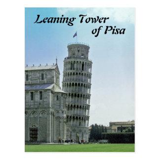 La torre inclinada de Pisa Tarjeta Postal
