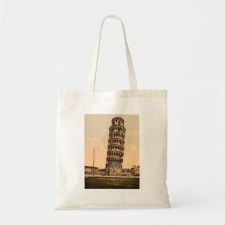 La torre inclinada de Pisa, Toscana, Italia Bolsa Tela Barata
