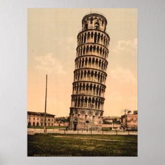 La torre inclinada de Pisa, Toscana, Italia Impresiones