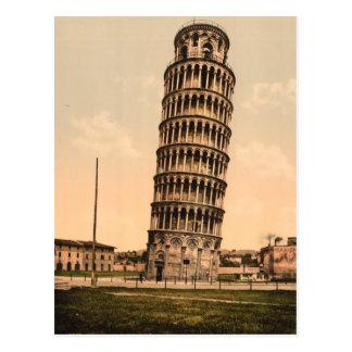 La torre inclinada de Pisa, Toscana, Italia Postal
