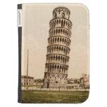 La torre inclinada del vintage de Pisa enciende la
