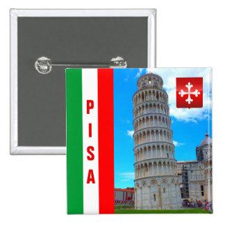 La torre inclinada el | Pisa, Italia Pin Cuadrado