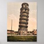 La torre inclinada, obra clásica Photochrom de Pis Impresiones