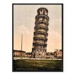 La torre inclinada, obra clásica Photochrom de Pis Tarjetas Postales