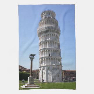 La torre inclinada toallas de mano
