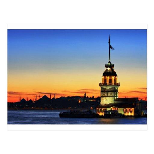 La Torre-Kiz Kulesi de la doncella Postales