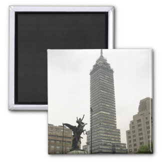 La Torre Latinoamericana desde Bellas Artes 2 Inch Square Magnet