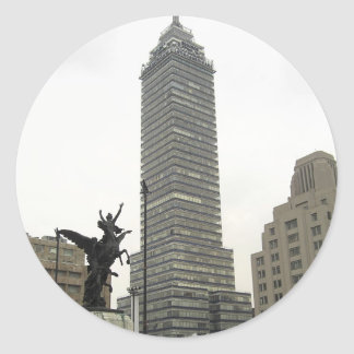 La Torre Latinoamericana desde Bellas Artes Classic Round Sticker