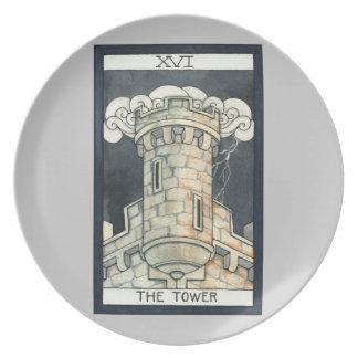 La torre plato para fiesta
