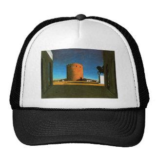 La torre roja de Giorgio de Chirico 1913 Gorras