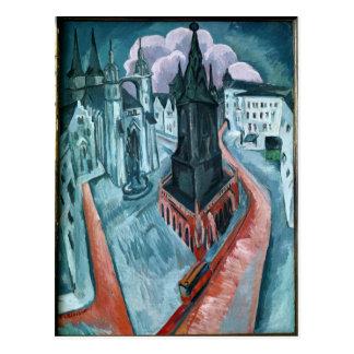 La torre roja en Halle, 1915 Postal