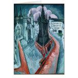 La torre roja en Halle, 1915 Tarjeta De Felicitación