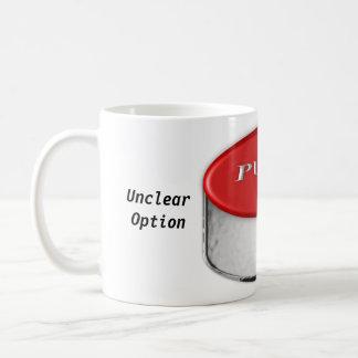 La torsión increíble de 2 letras taza de café