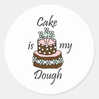 La torta es mi pasta pegatina redonda