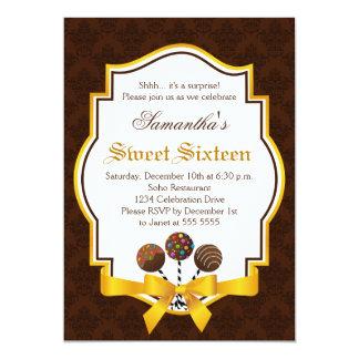 La torta hace estallar el dulce invitación de invitación 12,7 x 17,8 cm