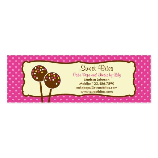 La torta hace estallar la etiqueta de la panadería tarjetas de visita mini