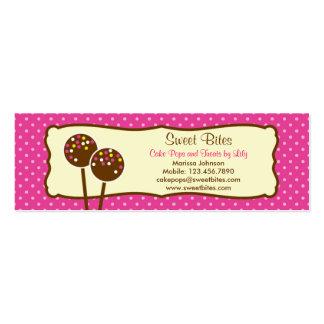 La torta hace estallar la etiqueta de la tarjetas de visita mini