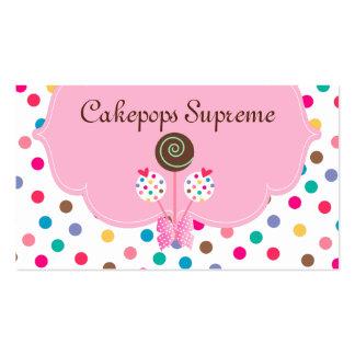 La torta hace estallar la menta del rosa de los lu plantillas de tarjetas personales