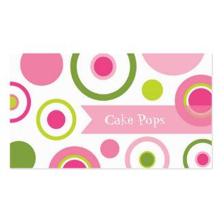 La torta hace estallar la panadería tarjetas personales