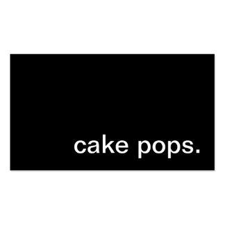 La torta hace estallar la tarjeta de visita