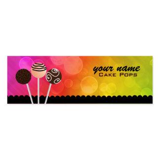 La torta hace estallar señales de las tarjetas de tarjetas de visita mini