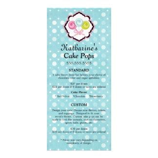 La torta hace estallar tarjetas de encargo del est tarjeta publicitaria a todo color