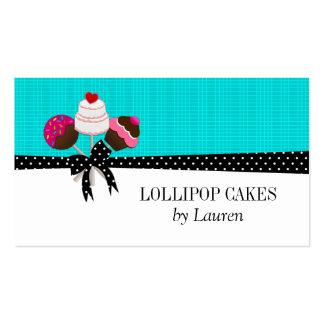 La torta hace estallar tarjetas de visita de la tu