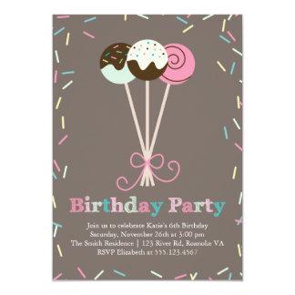 La torta hace estallar y asperja a la fiesta de invitación 12,7 x 17,8 cm
